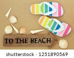 summer holiday relaxation... | Shutterstock . vector #1251890569