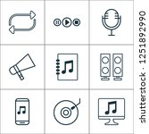 multimedia icons set with... | Shutterstock . vector #1251892990