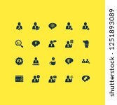 teamwork icons set with brain... | Shutterstock .eps vector #1251893089