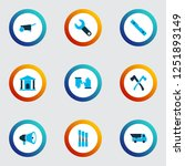 construction icons colored set... | Shutterstock .eps vector #1251893149