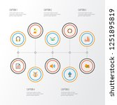 multimedia icons flat style set ... | Shutterstock .eps vector #1251895819