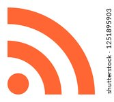 flat rss or wifi icon really... | Shutterstock .eps vector #1251895903