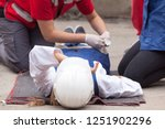 first aid after work accident   Shutterstock . vector #1251902296