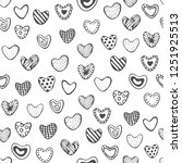 cute romantic seamless pattern. ... | Shutterstock .eps vector #1251925513