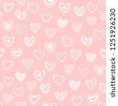 cute romantic seamless pattern. ... | Shutterstock .eps vector #1251926230