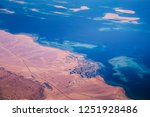 aerial view of the red sea and... | Shutterstock . vector #1251928486