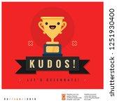 kudos let's celebrate card... | Shutterstock .eps vector #1251930400