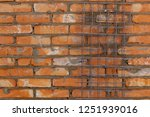 brick house from a red brick ... | Shutterstock . vector #1251939016