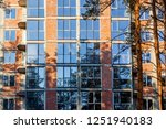 brick house from a red brick.... | Shutterstock . vector #1251940183