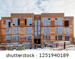 brick house from a red brick ... | Shutterstock . vector #1251940189