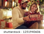 christmas holiday   cheerful... | Shutterstock . vector #1251940606