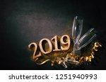 new years eve or birthday... | Shutterstock . vector #1251940993