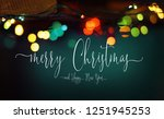 merry christmas and happy new... | Shutterstock . vector #1251945253