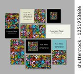 business cards design  ethnic... | Shutterstock .eps vector #1251953686