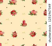 seamless christmas pattern....   Shutterstock . vector #1251967549