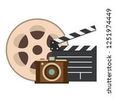 vintage cinema media | Shutterstock .eps vector #1251974449