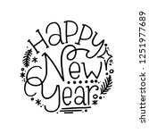happy new year. hand lettering... | Shutterstock .eps vector #1251977689