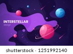 cartoon galaxy futuristic outer ...   Shutterstock .eps vector #1251992140