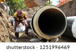 construction worker at work... | Shutterstock . vector #1251996469