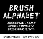 hand drawn brush strokes... | Shutterstock .eps vector #1251997129