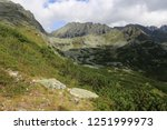 mountain landscape with old... | Shutterstock . vector #1251999973