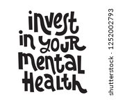 invest in your mental health  ... | Shutterstock .eps vector #1252002793