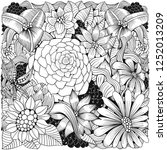 coloring book page with... | Shutterstock .eps vector #1252013209