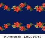 seamless pleasant border in... | Shutterstock .eps vector #1252014769