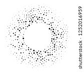 halftone dotted background... | Shutterstock . vector #1252016959