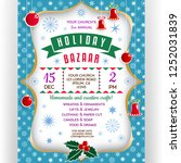 poster for winter holiday... | Shutterstock .eps vector #1252031839
