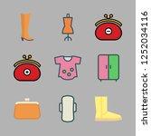 shoes icon set. vector set...   Shutterstock .eps vector #1252034116