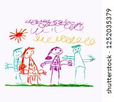 freehand drawn illustration...   Shutterstock .eps vector #1252035379