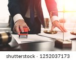 lawyer working with documents....   Shutterstock . vector #1252037173