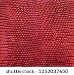 red lizard skin pattern texture ... | Shutterstock . vector #1252037650