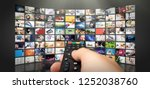 television streaming video... | Shutterstock . vector #1252038760