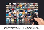 television streaming video... | Shutterstock . vector #1252038763