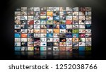 television streaming video... | Shutterstock . vector #1252038766