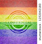 confidential on mosaic... | Shutterstock .eps vector #1252042183