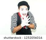 Portrait Of Wondered Mime Man...