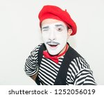 Cheerful Mime  Isolated On...