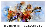 color mixing abstract texture... | Shutterstock . vector #1252056856