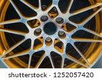 close up car mag wheel... | Shutterstock . vector #1252057420