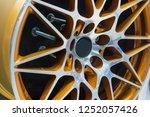 close up car mag wheel... | Shutterstock . vector #1252057426