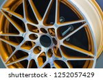 close up car mag wheel... | Shutterstock . vector #1252057429