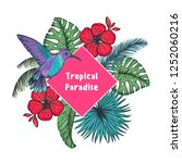 tropical design template.... | Shutterstock .eps vector #1252060216