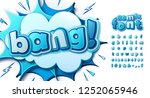 colorful comic font  kid's... | Shutterstock .eps vector #1252065946
