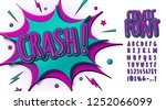 colorful comic font  children's ... | Shutterstock .eps vector #1252066099
