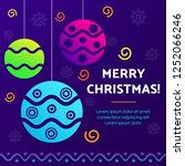 christmas background template.... | Shutterstock .eps vector #1252066246