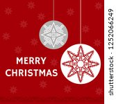 christmas background template.... | Shutterstock .eps vector #1252066249