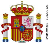 Spain flag coat of arms, vector illustration.